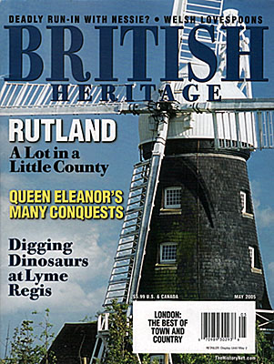 ENG: East Midlands Region, Rutland, Front cover of British Heritage magazine for May 2005, a photo of a windmill in Rutland, by Jim Hargan [Ask for #990.052.]