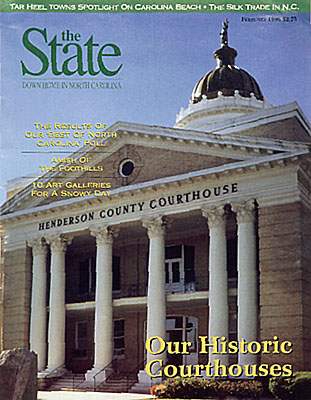 North Carolina, The January 1995 issue of Our State featured a photo of a small town courthouse by Jim Hargan [Ask for #990.058.]