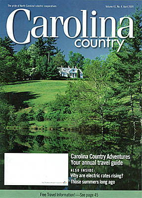 SC, Jim's photo of the Carl Sandburg Home in Flat Rock NC is on the cover of Carolina Country magazine, Apr 2009 [Ask for #990.062.]