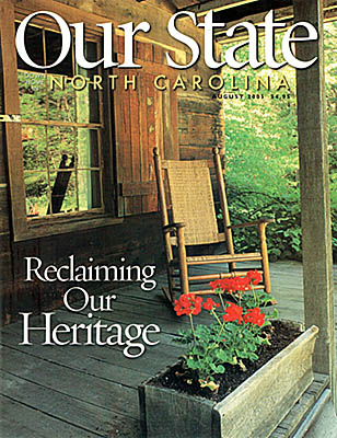 North Carolina, Jim's photo of a porch at the Cradle of Forestry in America, is on the cover of Our State, Aug 2005 [Ask for #990.065.]